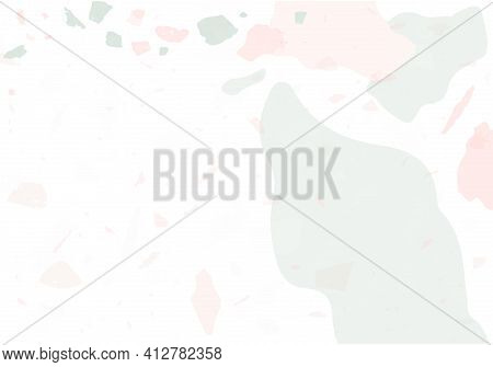 Terrazzo Modern Abstract Template. Pink And Grey
