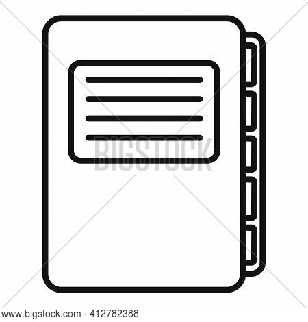 Purchasing Manager Folder Icon. Outline Purchasing Manager Folder Vector Icon For Web Design Isolate
