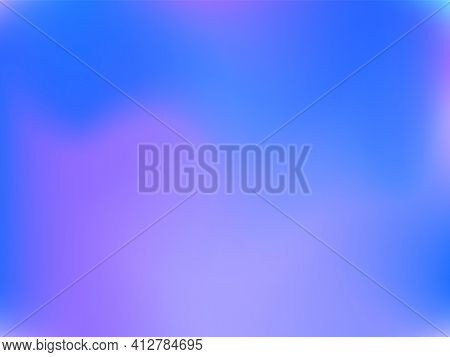 Holographic Background. Bright Smooth Mesh Blurred Futuristic Pattern