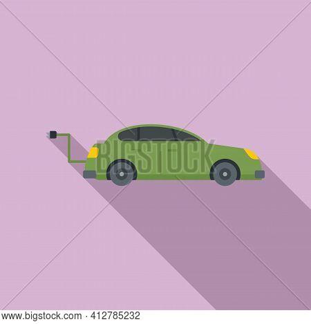 Hybrid Car Icon. Flat Illustration Of Hybrid Car Vector Icon For Web Design