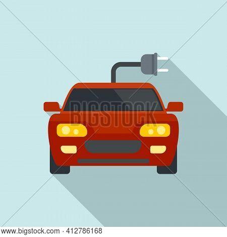 Sport Hybrid Car Icon. Flat Illustration Of Sport Hybrid Car Vector Icon For Web Design