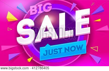 Big Sale For Web App Banner. Discount Banner Design. Vector Illustration Fashion Newsletter Designs,
