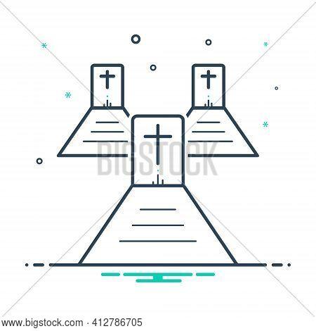 Mix Icon For Graveyard  Cemetery Necropolis Churchyard