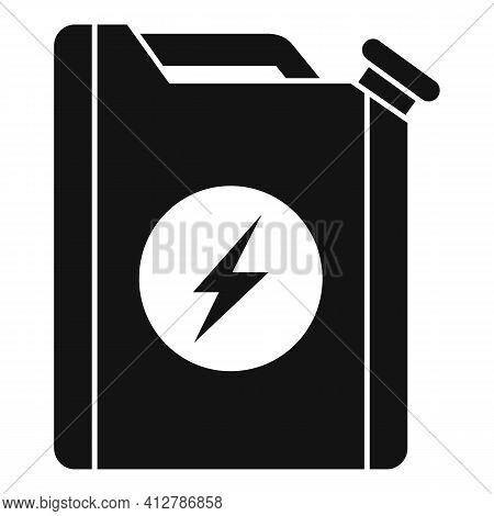 Hybrid Car Fuel Canister Icon. Simple Illustration Of Hybrid Car Fuel Canister Vector Icon For Web D