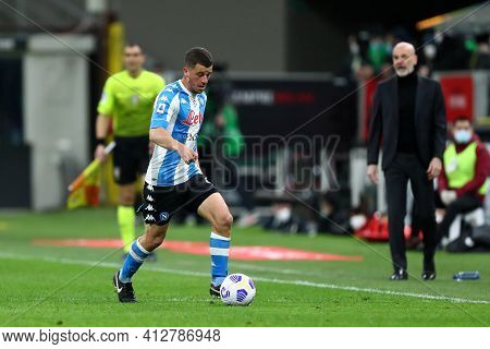 Milano, Italy. 14th March 2021 . Diego Demme Of Ssc Napoli  During The Serie A Match Between Ac Mila