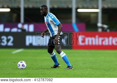 Milano, Italy. 14th March 2021 . Kalidou Koulibaly Of Ssc Napoli  During The Serie A Match Between A
