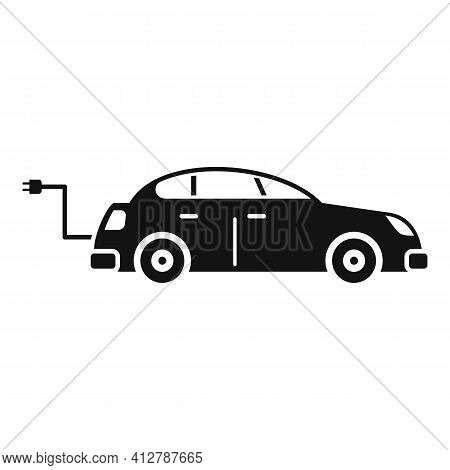 Hybrid Car Icon. Simple Illustration Of Hybrid Car Vector Icon For Web Design Isolated On White Back