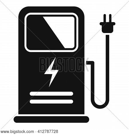 City Charge Station Icon. Simple Illustration Of City Charge Station Vector Icon For Web Design Isol