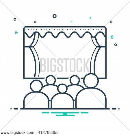 Mix Icon For Theater Cinema Audience Spectator Stage Theatre-audience
