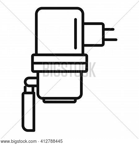 Car Charger Plug Icon. Outline Car Charger Plug Vector Icon For Web Design Isolated On White Backgro