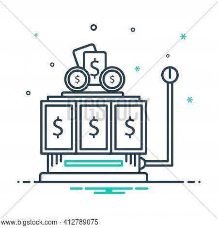 Mix Icon For Gambling  Gamble  Casino  Cash Machine