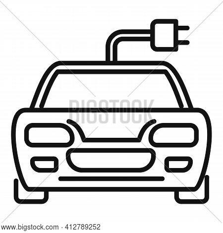 Sport Hybrid Car Icon. Outline Sport Hybrid Car Vector Icon For Web Design Isolated On White Backgro