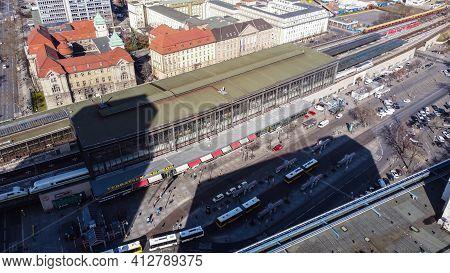 Zoo Railway Station In Berlin Called Bahnhof Zoo - Berlin, Germany - March 11, 2021