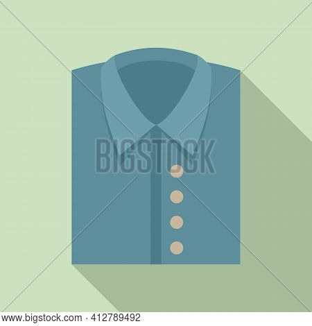 Shop Male Shirt Icon. Flat Illustration Of Shop Male Shirt Vector Icon For Web Design