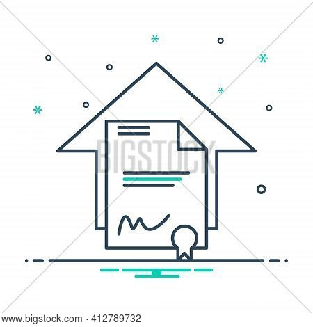 Mix Icon For Legal Aspects Juristic Juridical Property