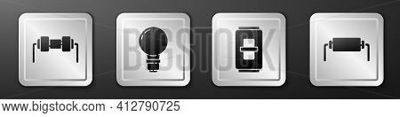 Set Resistor Electricity, Light Bulb With Concept Of Idea, Electric Light Switch And Resistor Electr
