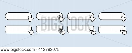 Serch Bar Icon Set. Browser Window. User Interface Elements For Mobile App. Vector Eps 10. Isolated
