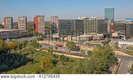 Belgrade, Serbia - October 06, 2018: Hyatt Regency Hotel In New Belgrade, Serbia.