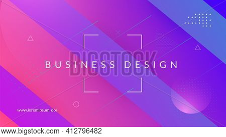 Rainbow Design. Abstract Shape. Purple Plastic Background. Wave