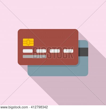 Credit Cards Icon. Flat Illustration Of Credit Cards Vector Icon For Web Design
