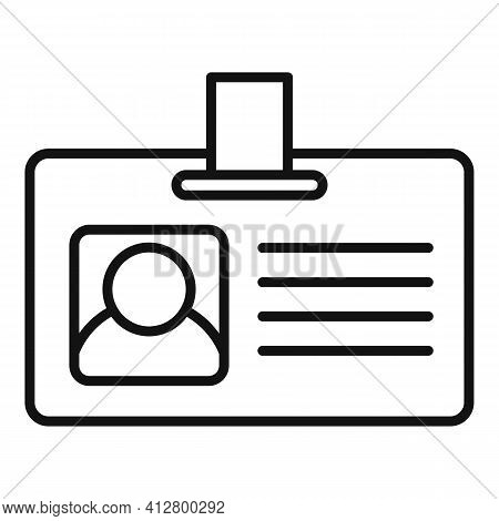 Travel Agent Badge Icon. Outline Travel Agent Badge Vector Icon For Web Design Isolated On White Bac