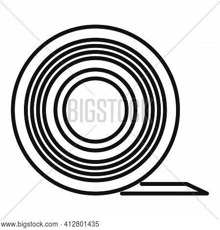Sticky Tape Icon. Outline Sticky Tape Vector Icon For Web Design Isolated On White Background
