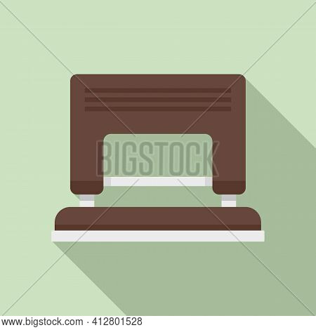 Hole Puncher Icon. Flat Illustration Of Hole Puncher Vector Icon For Web Design