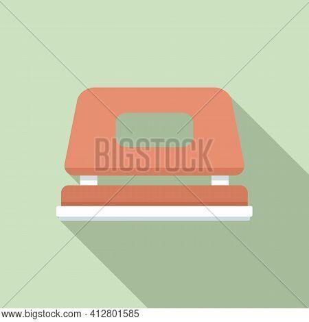 Office Hole Puncher Icon. Flat Illustration Of Office Hole Puncher Vector Icon For Web Design