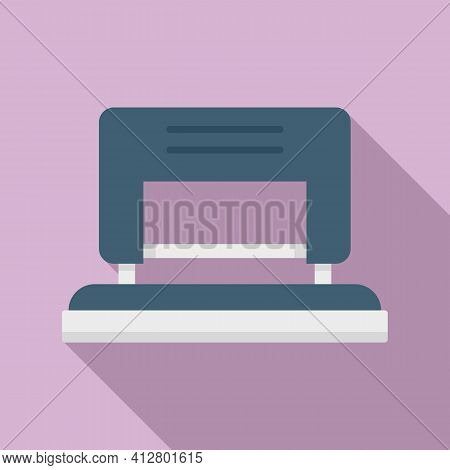 School Hole Puncher Icon. Flat Illustration Of School Hole Puncher Vector Icon For Web Design