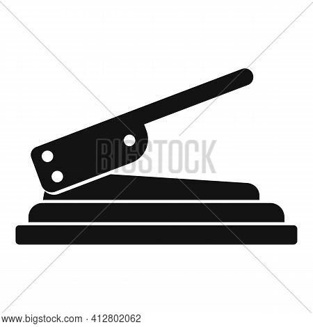 Craft Hole Puncher Icon. Simple Illustration Of Craft Hole Puncher Vector Icon For Web Design Isolat
