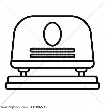 Paper Hole Puncher Icon. Outline Paper Hole Puncher Vector Icon For Web Design Isolated On White Bac