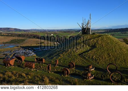 A View Of The Abandoned Land Regeneration Project At St. Ninians Opencast Mine Near Kelty In Fife.