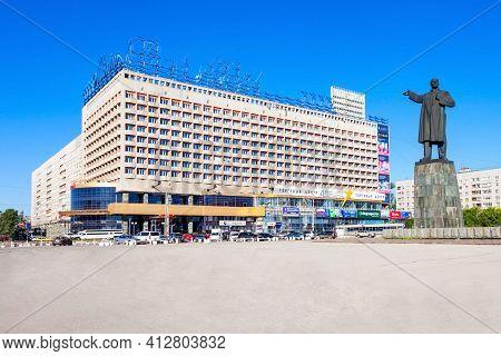 Nizhny Novgorod, Russia - June 29, 2016: Marins Park Hotel On The Lenin Square In Nizhny Novgorod, R