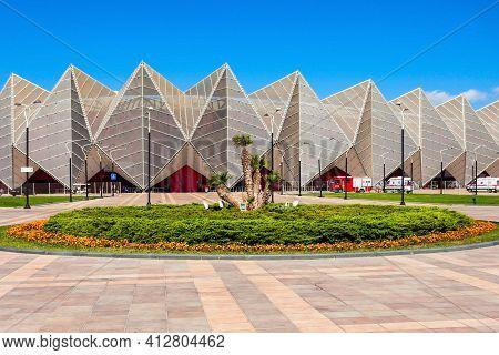 Baku, Azerbaijan - September 13, 2016: Baku Crystal Hall Is An Indoor Arena In Baku, Azerbaijan. Bui