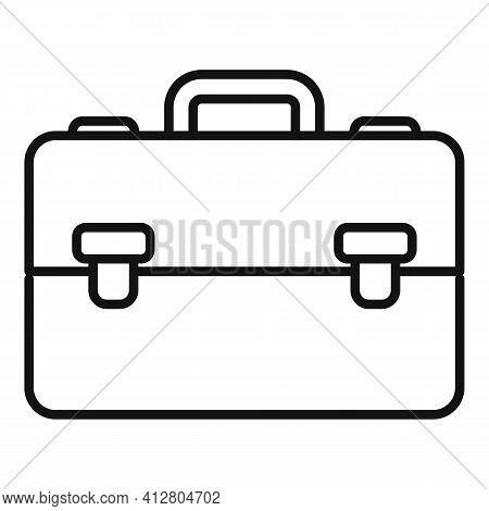 Manager Suitcase Icon. Outline Manager Suitcase Vector Icon For Web Design Isolated On White Backgro
