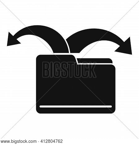 Restructure File Icon. Simple Illustration Of Restructure File Vector Icon For Web Design Isolated O