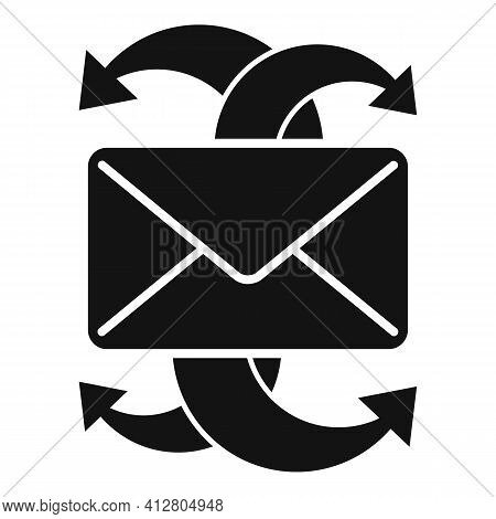Restructuring Email Icon. Simple Illustration Of Restructuring Email Vector Icon For Web Design Isol
