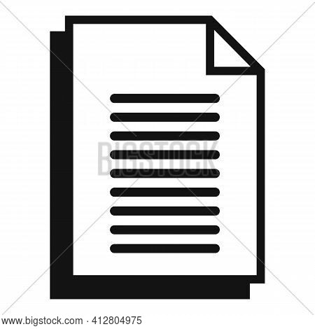 Restructuring Contract Icon. Simple Illustration Of Restructuring Contract Vector Icon For Web Desig