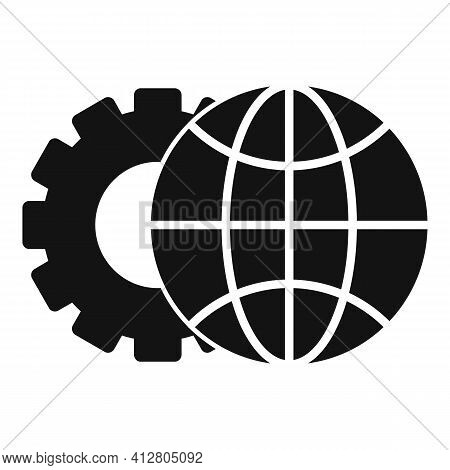 Global Restructuring Icon. Simple Illustration Of Global Restructuring Vector Icon For Web Design Is