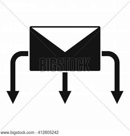 Restructuring Letter Icon. Simple Illustration Of Restructuring Letter Vector Icon For Web Design Is