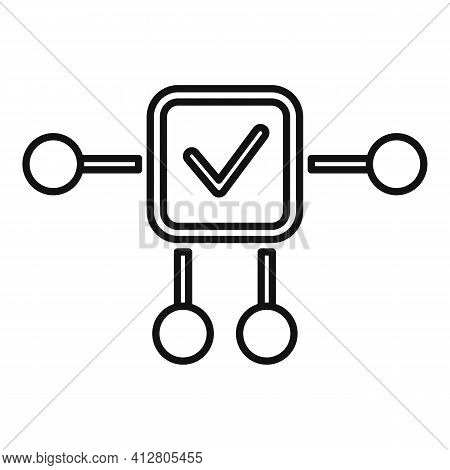 Restructure Plan Icon. Outline Restructure Plan Vector Icon For Web Design Isolated On White Backgro