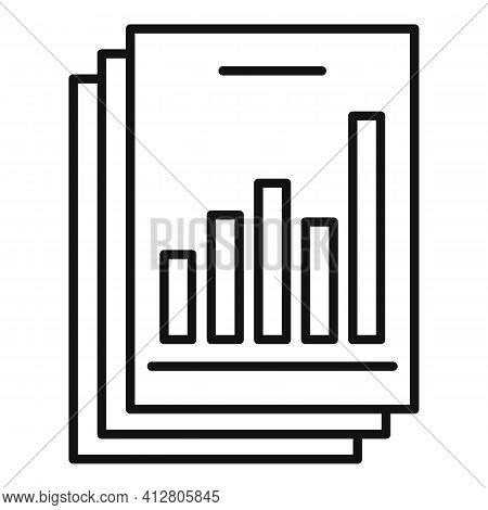 Restructuring Analysis Icon. Outline Restructuring Analysis Vector Icon For Web Design Isolated On W