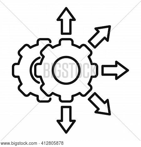 Project Restructuring Icon. Outline Project Restructuring Vector Icon For Web Design Isolated On Whi