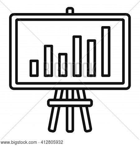 Restructuring Report Icon. Outline Restructuring Report Vector Icon For Web Design Isolated On White