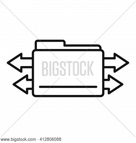 Restructuring Information Icon. Outline Restructuring Information Vector Icon For Web Design Isolate