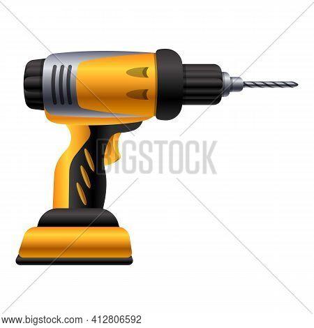 Handle Drilling Machine Icon. Cartoon Of Handle Drilling Machine Vector Icon For Web Design Isolated