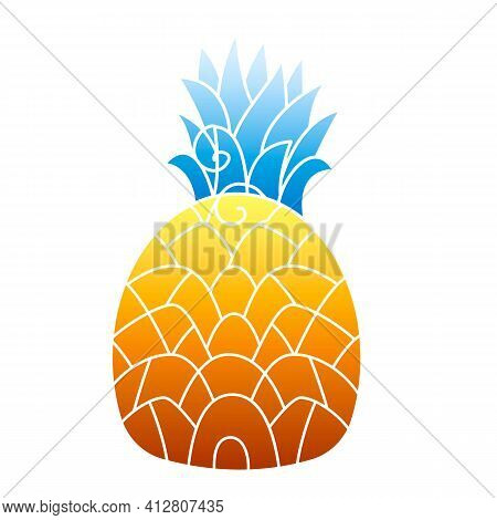 Pineapple Icon. Cartoon Of Pineapple Vector Icon For Web Design Isolated On White Background