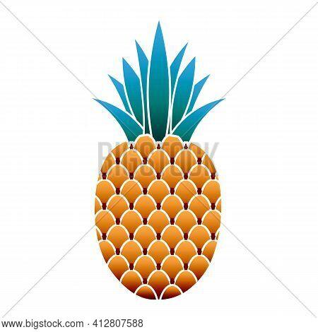Dessert Pineapple Icon. Cartoon Of Dessert Pineapple Vector Icon For Web Design Isolated On White Ba