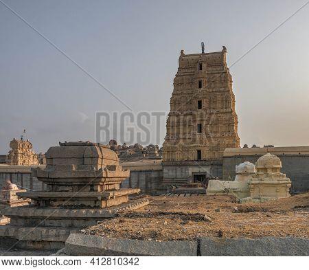 Virupaksha Temple Is A Hindu Temple Dedicated To Shiva In Hampi. India