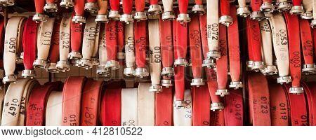 fire-hose set in hose station